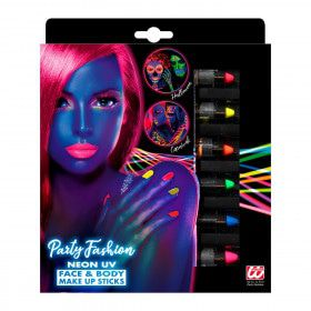 Set Van 6 Neon Make-Up Potloden