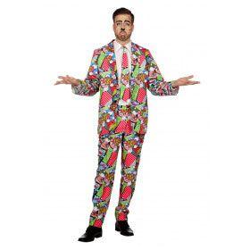 Pop Art Strip Man Kostuum