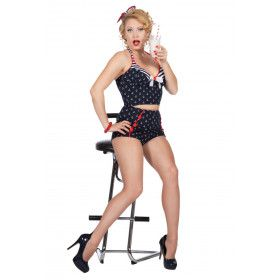 Rockabilly Fifties Pin-Up Vrouw Kostuum