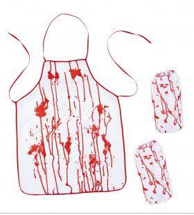 Bloederige Slager Schort En Mouwstukken