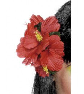 Hawaiaanse Bloemenclip Rood