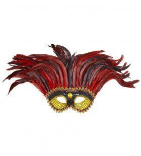 Oogmasker Maya Goud / Zwart