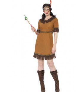 Keurige Indiaanse Dame Vrouw Kostuum
