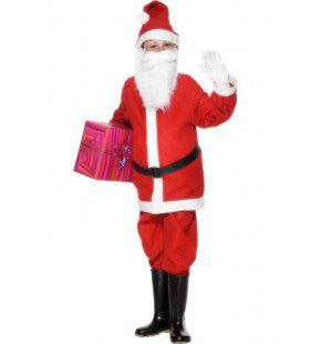 Rood Santa Claus De Goede Kerstman Jongen Kostuum