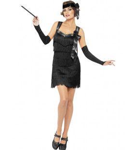 Foxy Fever Flapper Zwart Vrouw Kostuum