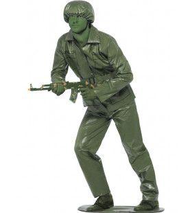 Plastic Groen Soldaatje Man Kostuum