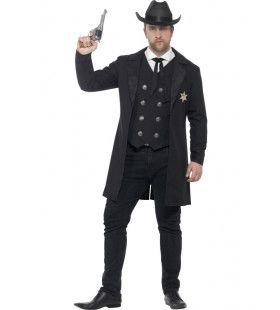Stijlvolle Sheriff Maatje Meer Man Kostuum
