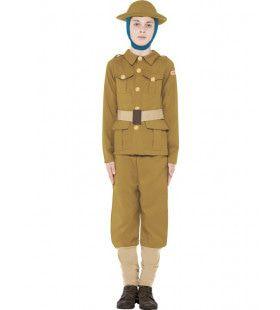 Horrible Histories Britse Soldaat Uit 2e Wereldoorlog Jongen Kostuum