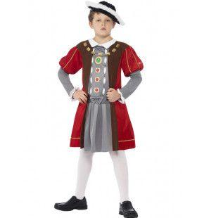 Horrible Histories Engelse Koning Henry Viii Jongen Kostuum