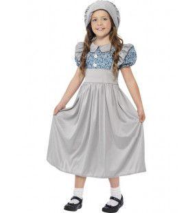 Victoriaans Engels Schoolmeisje Kostuum