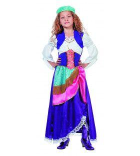 Waarzeggende Zigeunerin Gipsy (Meisje) Kostuum