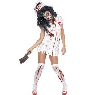 Zombie Verpleegster Vrouw Kostuum