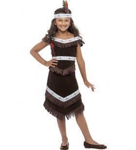 Indiaanse Hiawatha Van De Prairie Meisje Kostuum