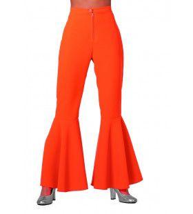 Dancing Orange Hippie Broek Bi-Stretch