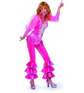 Zweedse Mamma Mia Luxe Roze Vrouw Kostuum