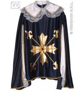 Dappere Musketier Shirt En Jas Man Kostuum