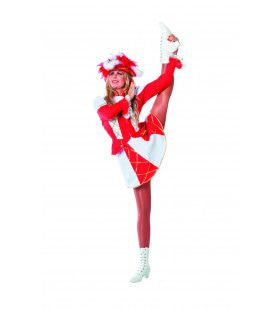 Showmeisje Dansmarietje, Rood Vrouw Kostuum