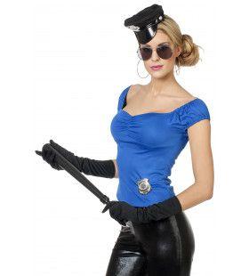 Veelzijdige Top Uni Blauw Vrouw