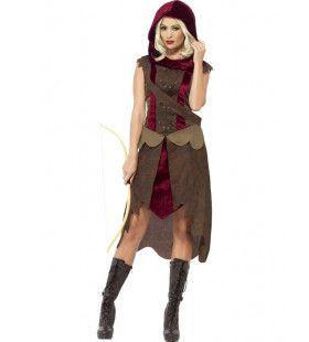 Engelse Jagerdame Vrouw Kostuum