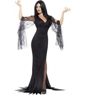 Chique Donkere Schoonheid Vrouw Kostuum