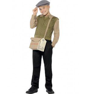 Arme Engelse Jongen Kostuum