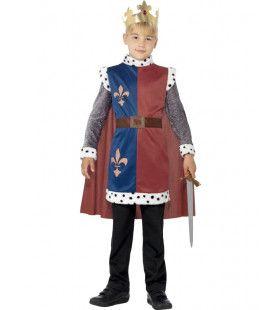 Middeleeuwse Koning Arthur Jongen Kostuum
