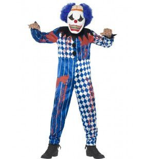 Zombie Sinistere Clown Jongen Kostuum