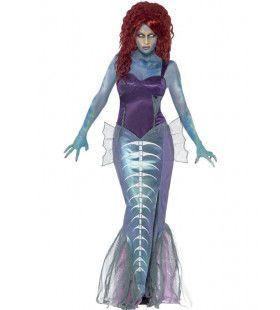 Zombie Zeemeermin Vrouw Kostuum