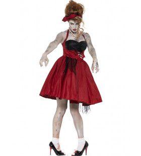 Zombie 50s Chick Vrouw Kostuum