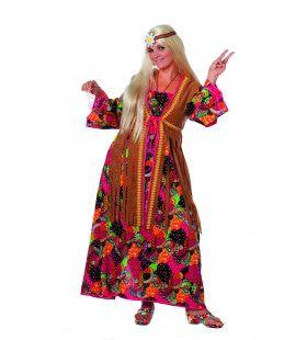 Smoking Hippie Lange Jurk Vrouw Plus Size