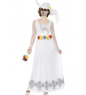 Dia De Los Muertos Bruid Vrouw Kostuum