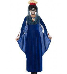 Dia De Los Muertos Maagd Maria Vrouw Kostuum