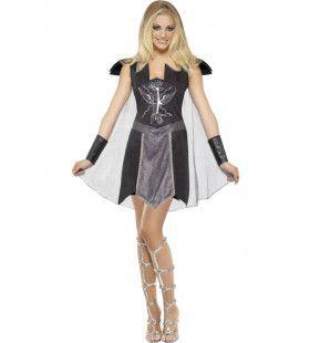 Dark Warrior Strijder Vrouw Kostuum