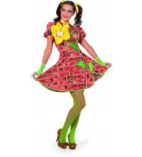 Letterlijk Muurbloempje Vrouw Kostuum