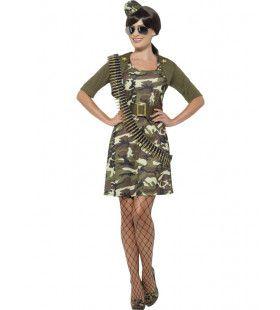 Leger Dame Ms Bullet Vrouw Kostuum