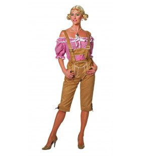 Dames Lederhose Luxe Lang Vrouw Kostuum
