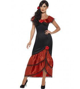 Flamenco Senorita Anna-Maria Vrouw Kostuum
