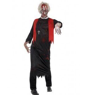Zombie Priester Carlo Man Kostuum