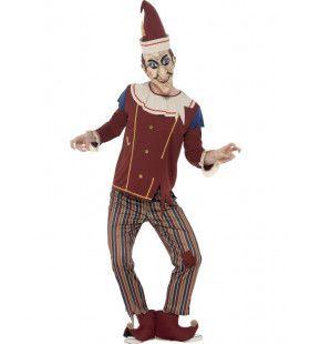 Sinistere Pinokkio Man Kostuum