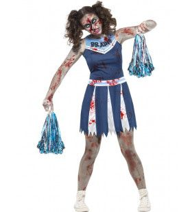Zombie Cheerleader Daisy Vrouw Kostuum