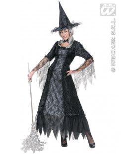 Spiderweb Heks XXL Vrouw Kostuum