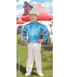 Kleine Blauwe Dwerg Kind Jongen Kostuum