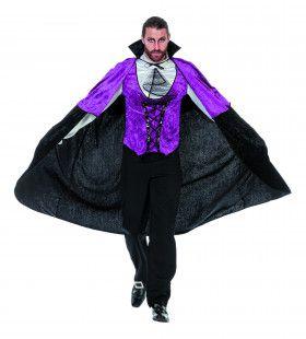 Goth Dracuul Gothic Paars Man Kostuum