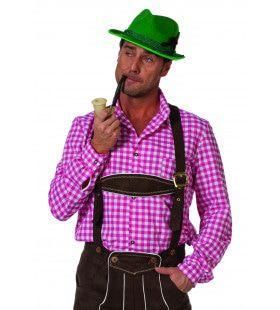 Auf Wiedersehen Overhemd Tiroler Roze Man