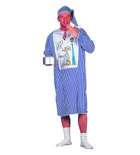 Slaapwandelaar Met Muts Uit Omas Tijd Man Kostuum