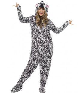 Onesie Schattige Zebra Kostuum