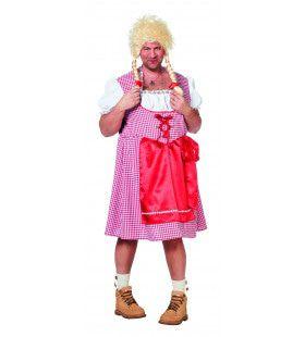 Travestiet Dirndl Edelweiss Man Plus Size Kostuum