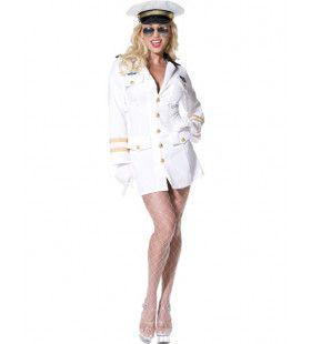 Top Gun Knappe Officier Vrouw Kostuum