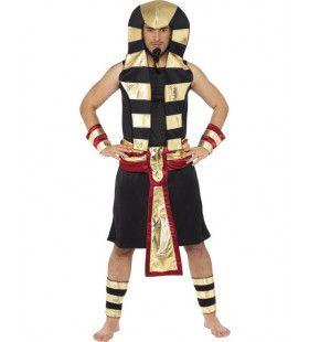 Egyptische Farao - Zwart Man Kostuum