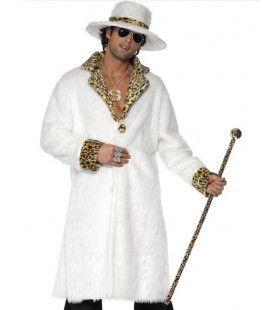 Imitatiebont Pooier Wit Man Kostuum